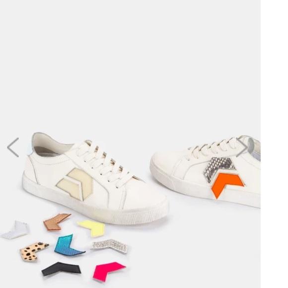 ZAGA Sneakers in white velcro